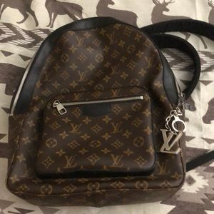 Louis Vuitton backpack with keychain